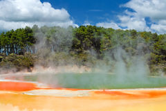 Champagne Pool in Wai-O-Tapu, New Zealand. Champagne Pool in Wai-O-Tapu Geothermal Wonderland, Rotorua, New Zealand Royalty Free Stock Photos
