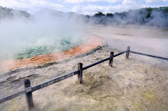 Champagne Pool, Wai-O-Tapu, Rotorua, New Zealand. Royalty Free Stock Photos
