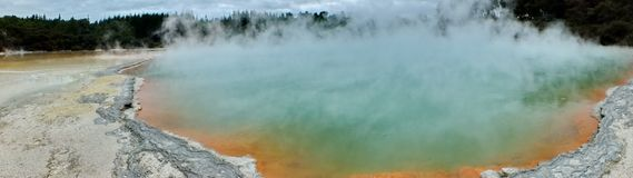 Champagne Pool at Wai-O-Tapu Thermal Wonderland. Rotorua, New Zealand stock photos