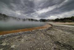 Champagne Pool Waiotapu New Zealand geotérmico Fotos de archivo libres de regalías