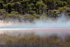 Champagne Pool in Waiotapu Thermal Reserve, Rotorua, New Zealand Royalty Free Stock Photos