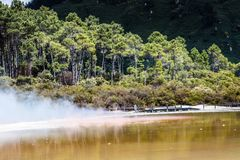 Champagne Pool in Waiotapu Thermal Reserve, Rotorua, New Zealand Stock Photo