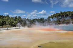 Champagne Pool in Waiotapu Thermal Reserve, Rotorua, New Zealand Stock Photography