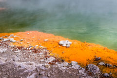 Champagne Pool in Waiotapu Thermal Reserve, Rotorua, New Zealand Royalty Free Stock Images