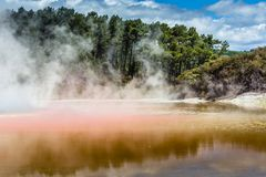 Champagne Pool in Waiotapu Thermal Reserve, Rotorua, New Zealand Stock Image