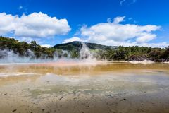 Champagne Pool in Waiotapu Thermal Reserve, Rotorua, New Zealand Stock Photos