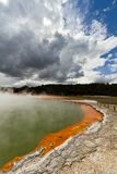 Champagne Pool and Cloud. The champagne pools and clouds in NZ Royalty Free Stock Photos