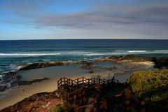 Champagne Pools, Fraser Island. royalty free stock image
