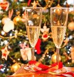 Champagne pour deux Image libre de droits