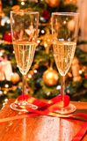 Champagne pour deux Photo stock
