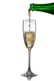 Champagne pouring into glass Stock Image