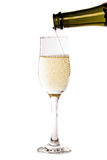Champagne pouring into a glass Stock Photo