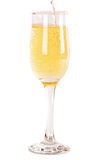 Champagne pouring into a glass Stock Photography