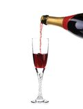 Champagne pouring in a glass. Royalty Free Stock Photo