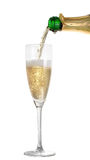 Champagne pouring into a glass Stock Photos