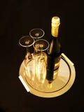 Champagne prête pour la réception d'an neuf Image libre de droits