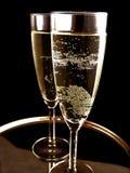 Champagne prête pour la réception d'an neuf Image stock