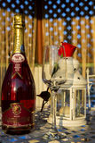 Champagne presentation Royalty Free Stock Photo