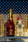Champagne presentation. The new Jidvei champagne in a commercial photograph Stock Photos