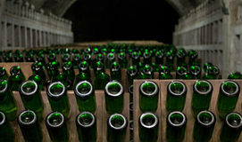 Champagne production Royalty Free Stock Photo