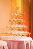 Champagne Pyramid Royalty-vrije Stock Foto's