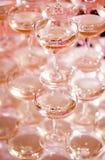 Champagne Pyramid Stock Foto