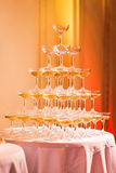 Champagne Pyramid Royalty Free Stock Photos