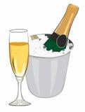 Champagne raffreddato illustrazione vettoriale