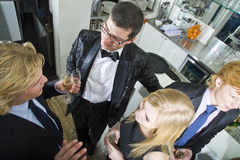 Champagne recetion Stock Images