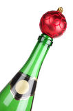 Champagne and red ball Stock Image