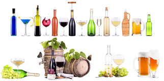 Champagne, red and white wine,beer Stock Image