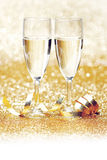 Champagne and ribbon stock photos