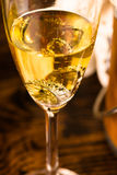 Champagne and rings Stock Image