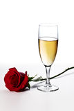Champagne and rose Royalty Free Stock Photography