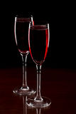 Champagne , rose Stock Photo