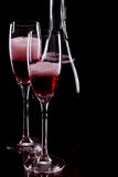 Champagne , rose Stock Image