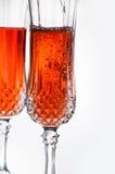 Champagne rose Images libres de droits