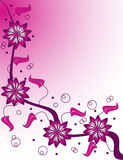 Champagne rose illustration stock