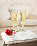 Champagne & Rose Royalty Free Stock Images