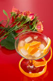 Champagne and Roses Stock Images