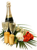 Champagne and roses Royalty Free Stock Photography