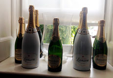 Champagne Scene stock images