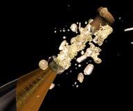 Champagne schiocca in su Fotografie Stock Libere da Diritti