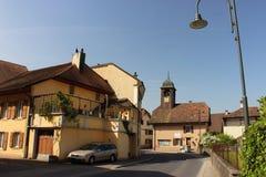 Champagne Schweiz Arkivbild