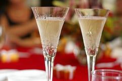 Champagne scintillante Fotografia Stock