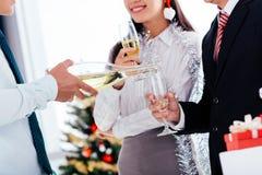 Champagne se renversant Photo libre de droits