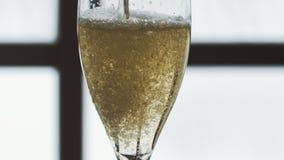 Champagne se renversant dans des glaces banque de vidéos