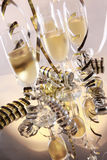 Champagne and serpentines Royalty Free Stock Images