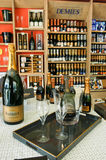 Champagne shop at Reims on France Stock Photography