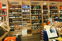 Champagne shop at Reims on France Royalty Free Stock Images